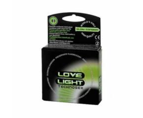 "Leucht-Kondome ""Love Light"" 3 St."