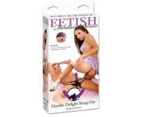 Double delight kétvégű felcsatolható dildo
