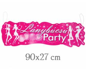 Lánybúcsú party banner