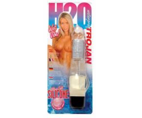 H2O Trojan vízálló vibrátor - Áttetsző